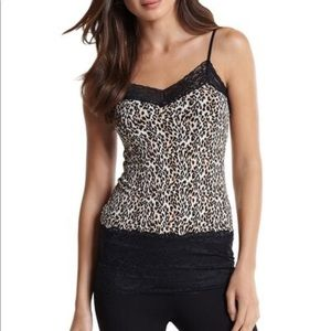 WHBM Wide Lace Leopard Cami
